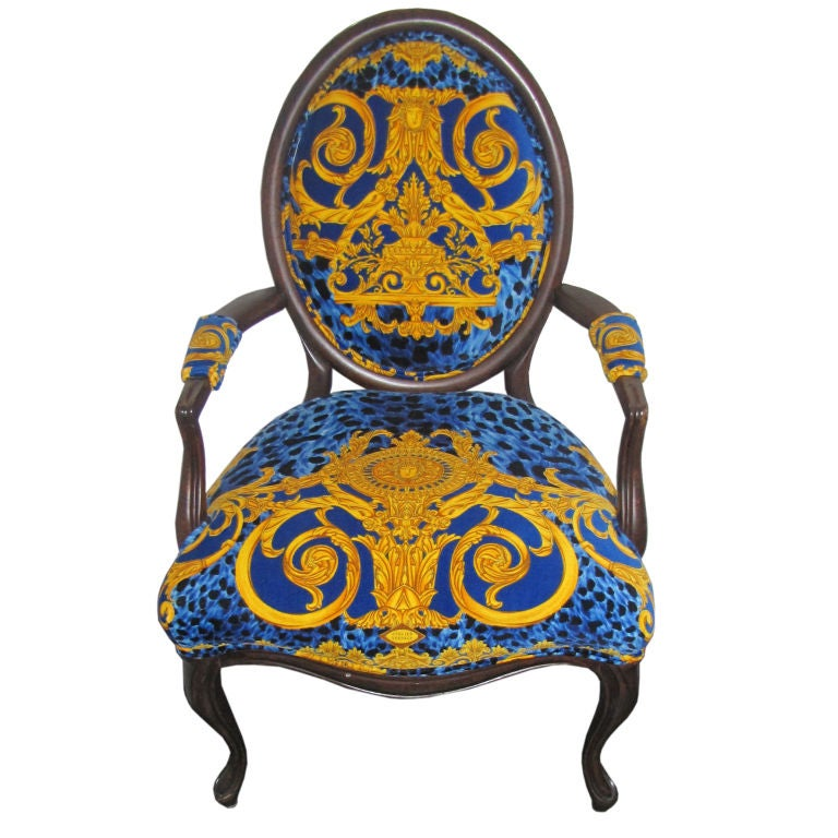 Versace Upholstered Arm Chair