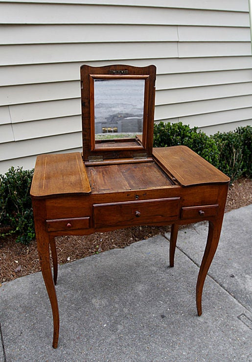 French LXV Style Walnut Ladies Dressing Table at 1stdibs