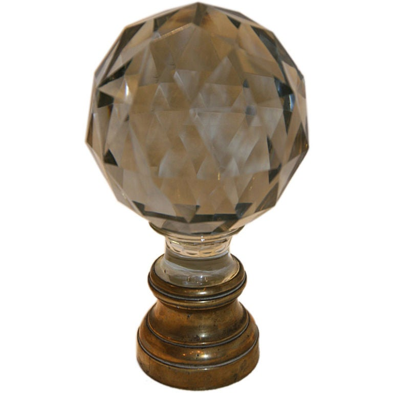 French Glass Staircase Ball Finial At 1stdibs