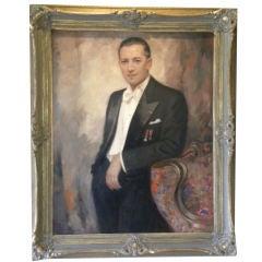 Art Deco  Gentleman's Portrait, White TieTails Nobility by Andre
