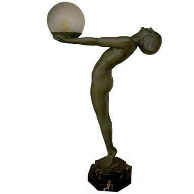 Art Deco Light Statue by Max Le Verrier