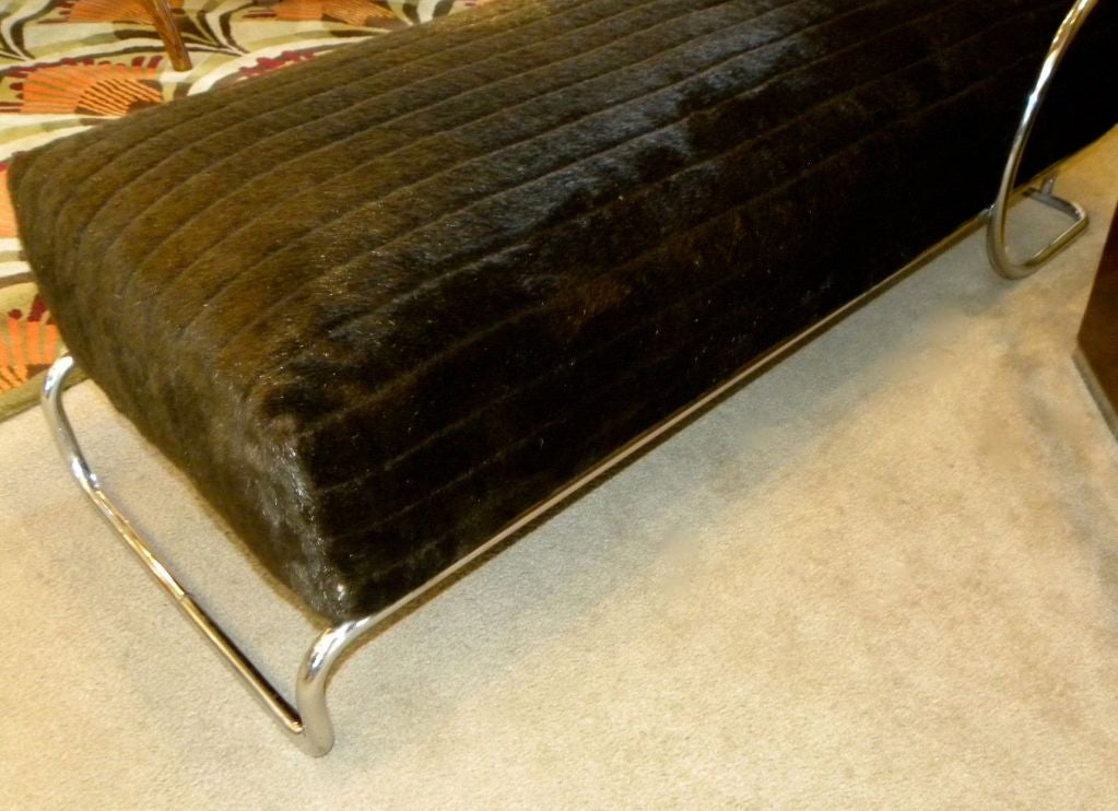 classic bauhaus chase lounge in metal circa 1940 s at 1stdibs. Black Bedroom Furniture Sets. Home Design Ideas