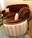 American Art Deco Sofa Suite great hollywood style and  glamour image 4