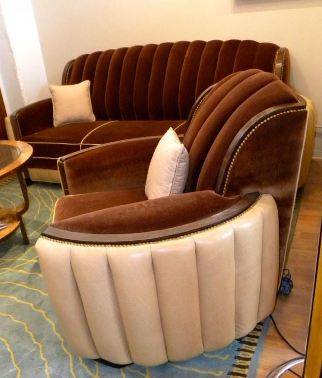 American Art Deco Sofa Suite great hollywood style and  glamour 4