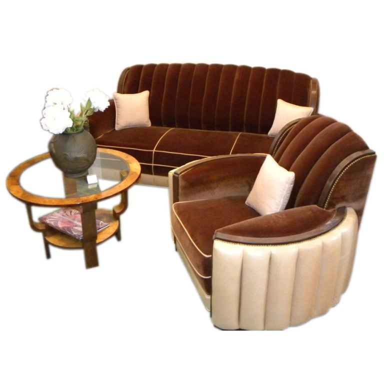 American Art Deco Sofa Suite great hollywood style and  glamour