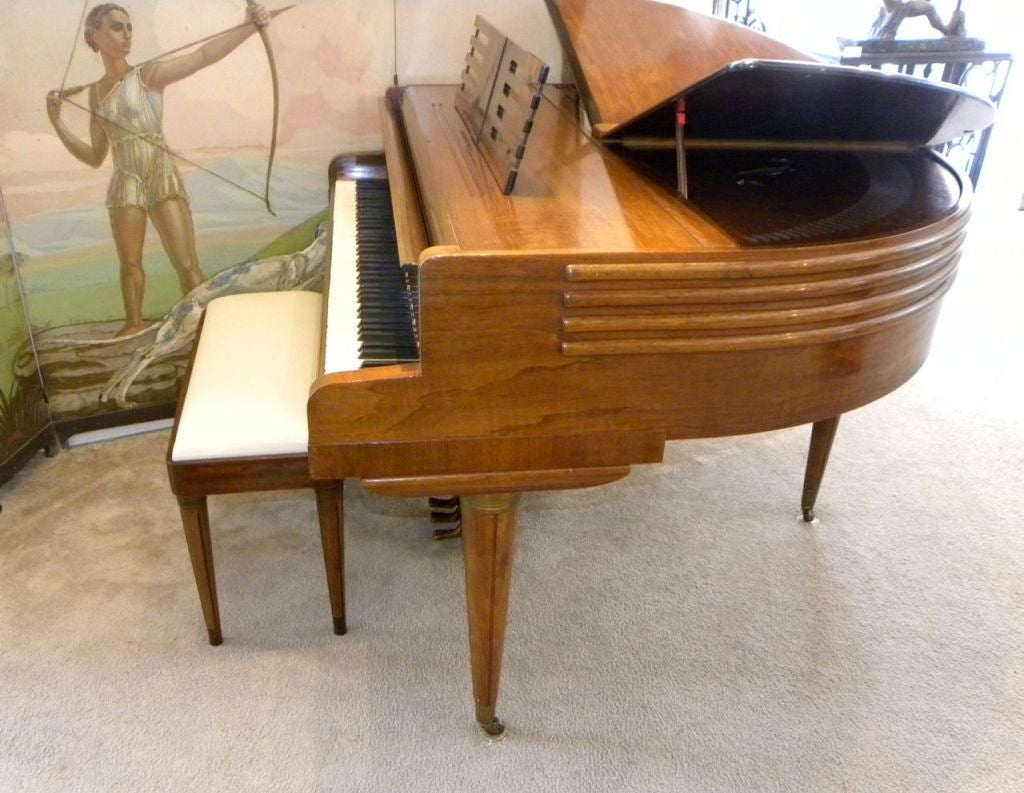 streamline art deco butterfly wurlitzer baby grand piano image 3. Black Bedroom Furniture Sets. Home Design Ideas