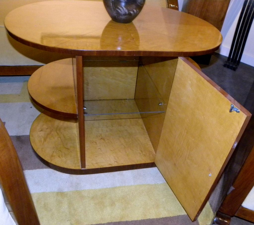 Oval Streamline Art Deco Coffee Table Or Mini Bar At 1stdibs