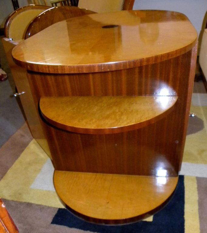 Oval Streamline Art Deco Coffee Table Or Mini-bar At 1stdibs