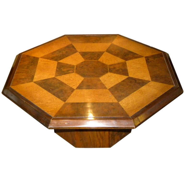Original two tone octagon coffee table for sale at 1stdibs for Octagon coffee table