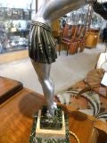 Unique French Art Deco statue-light by, Balleste thumbnail 4