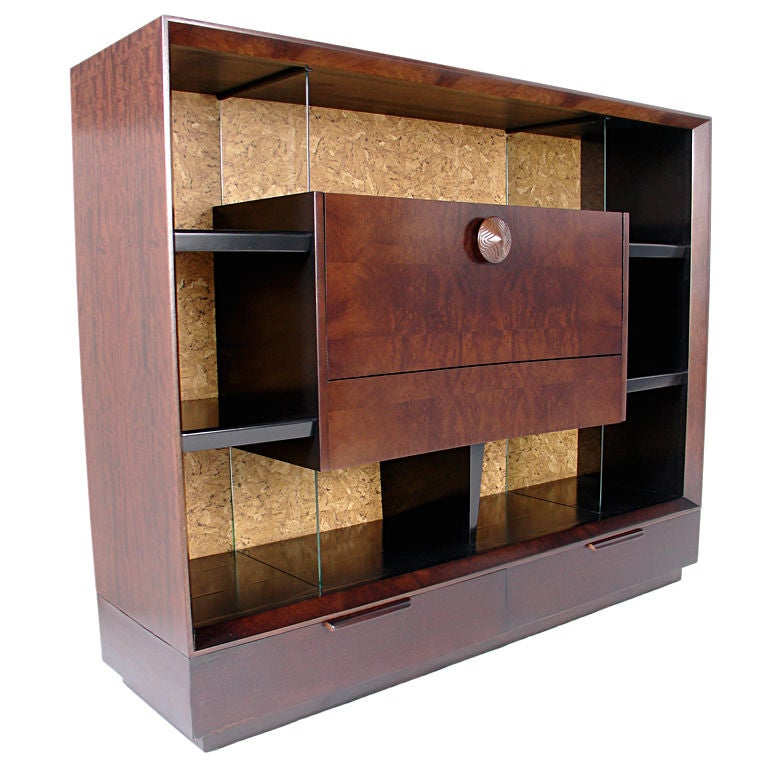 American Furniture Warehouse Gilbert: Large Scale Bookcase By Gilbert Rohde With Exotic Paldao