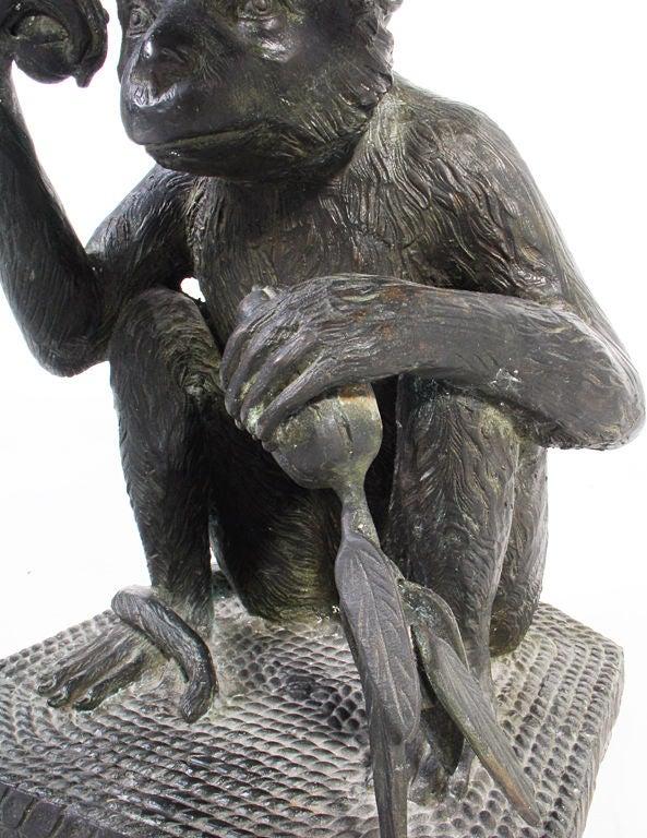 Bronze Monkey Stool Designed By Maitland Smith At 1stdibs