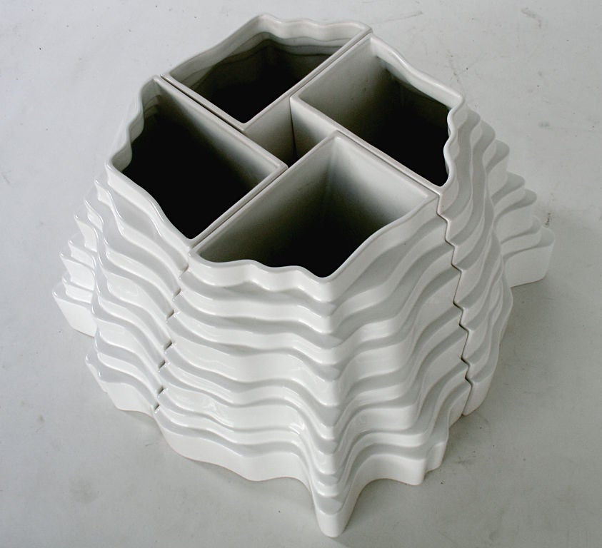Sculptural Collina Vase designed by Sergio Asti 5