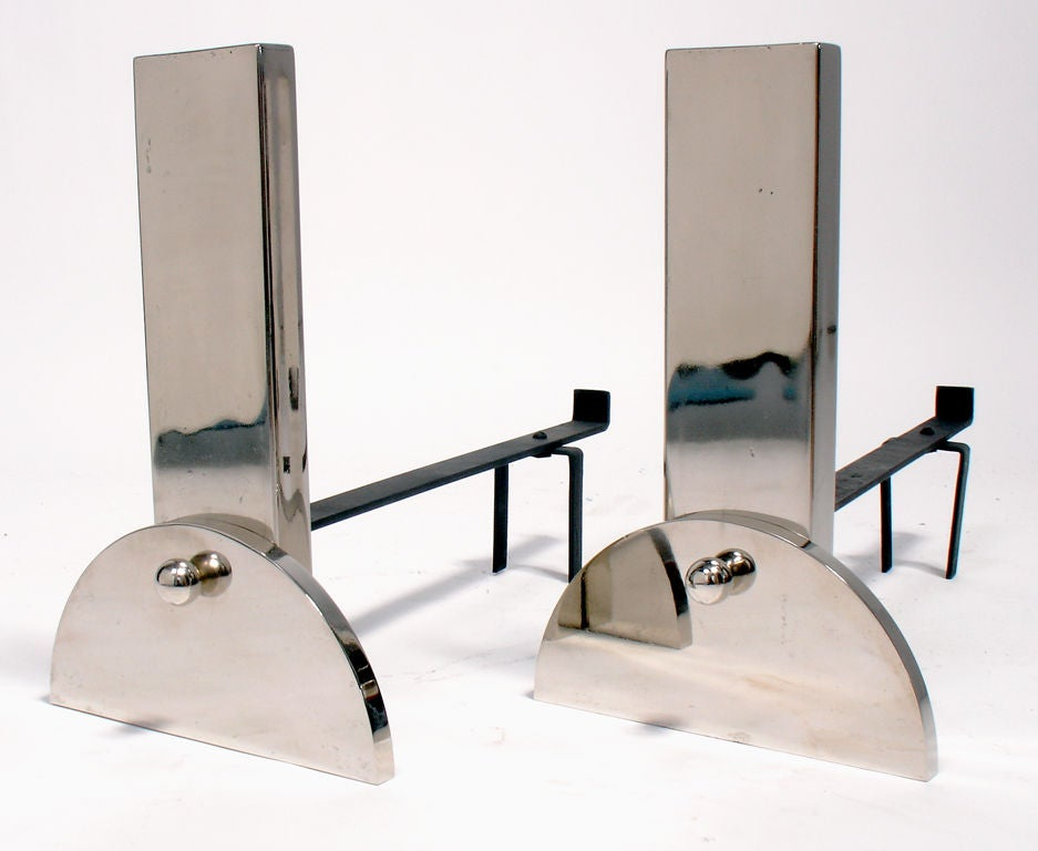 1930 s Art Deco Andirons for Bloomingdale s of NYC at 1stdibs