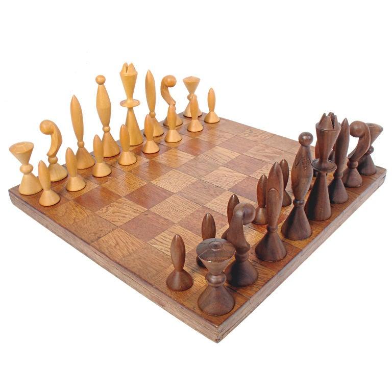 Modernist Chess Set By Arthur Elliot For Anri At 1stdibs