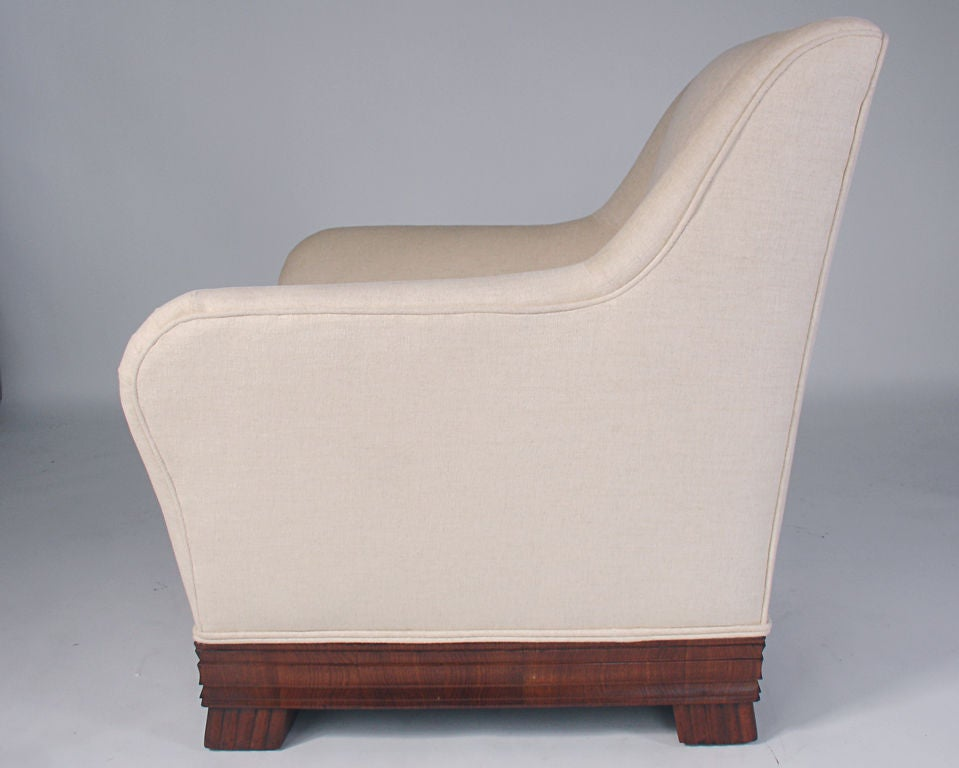 Curvaceous Rosewood Lounge Chair By Eugene Schoen At 1stdibs