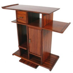 Rosewood Art Deco Side Table Custom Designed by Eugene Schoen