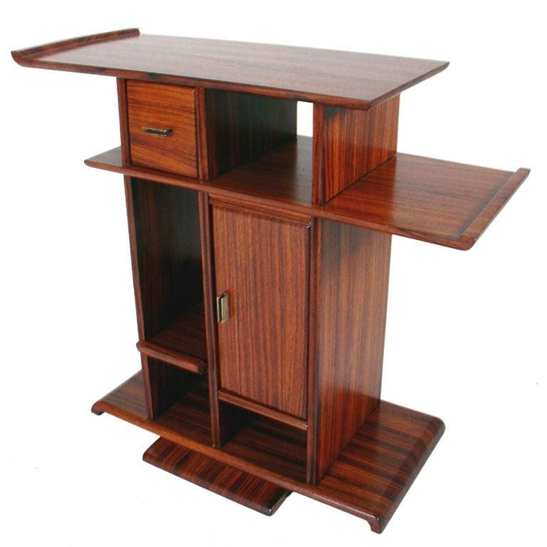 Rosewood Art Deco Side Table Custom Designed By Eugene Schoen At 1stdibs