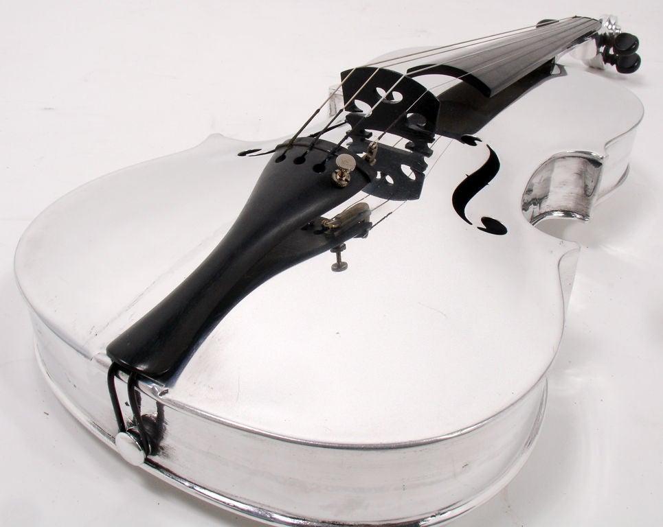 Incredible Aluminum Violin - circa 1930's 2