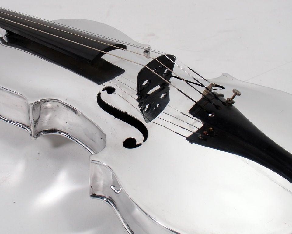 Incredible Aluminum Violin - circa 1930's 7