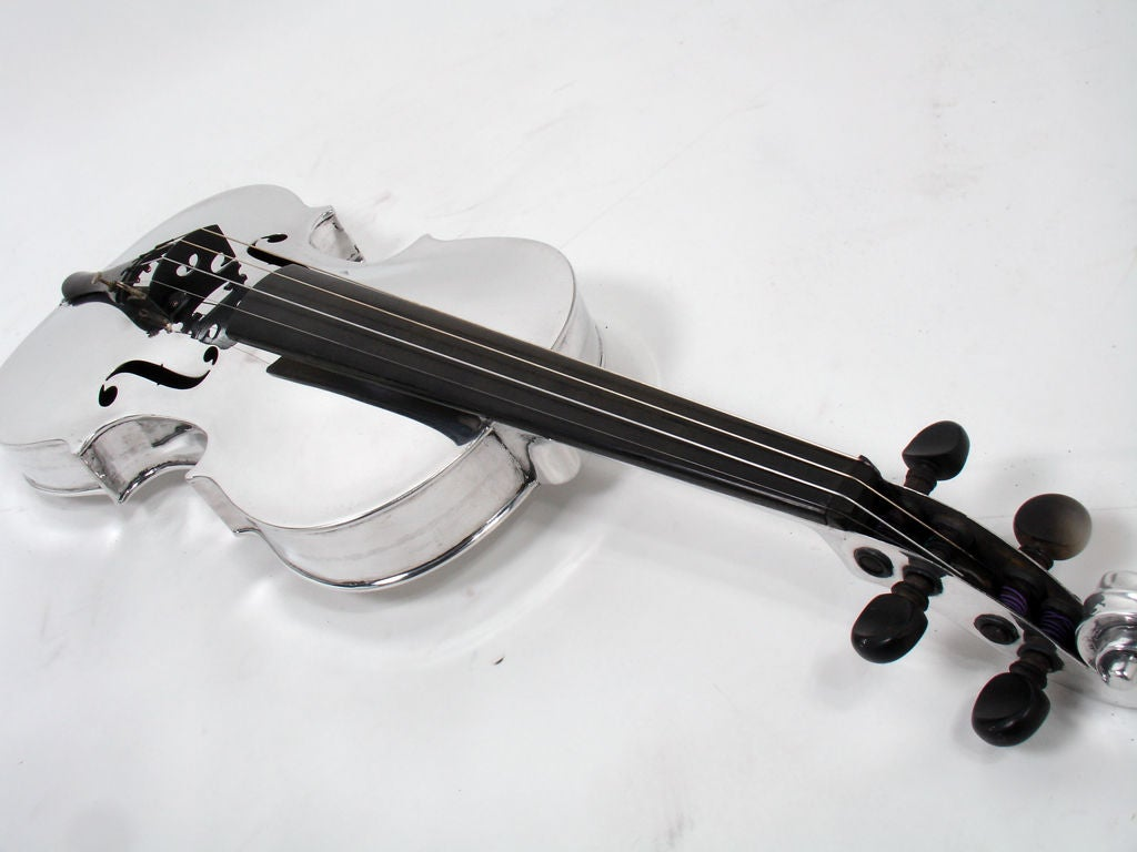 Incredible Aluminum Violin - circa 1930's 8