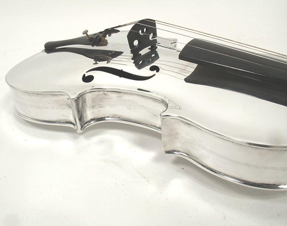 Incredible Aluminum Violin - circa 1930's 9