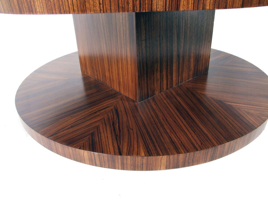 Zebra Wood Coffee Table With Revolving Top At 1stdibs