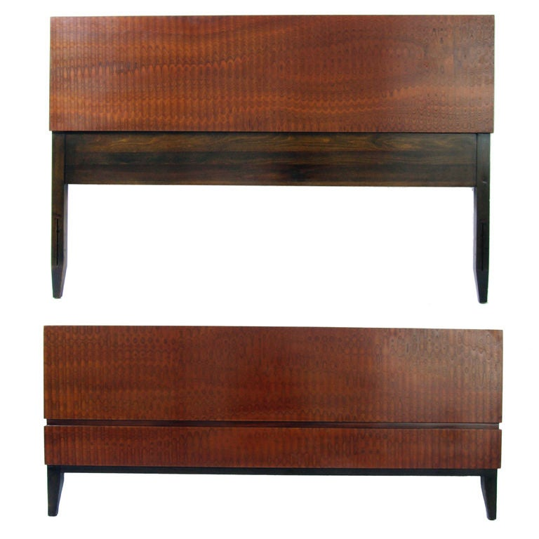 Exotic Wood Bed Designed By Donald Deskey At 1stdibs