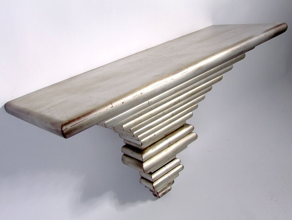 Silver Leaf Wall Mounted Console Table Or Shelf At 1stdibs