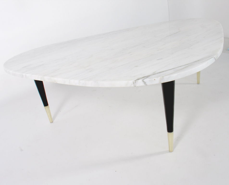 Modernist white marble coffee table at 1stdibs White marble coffee table