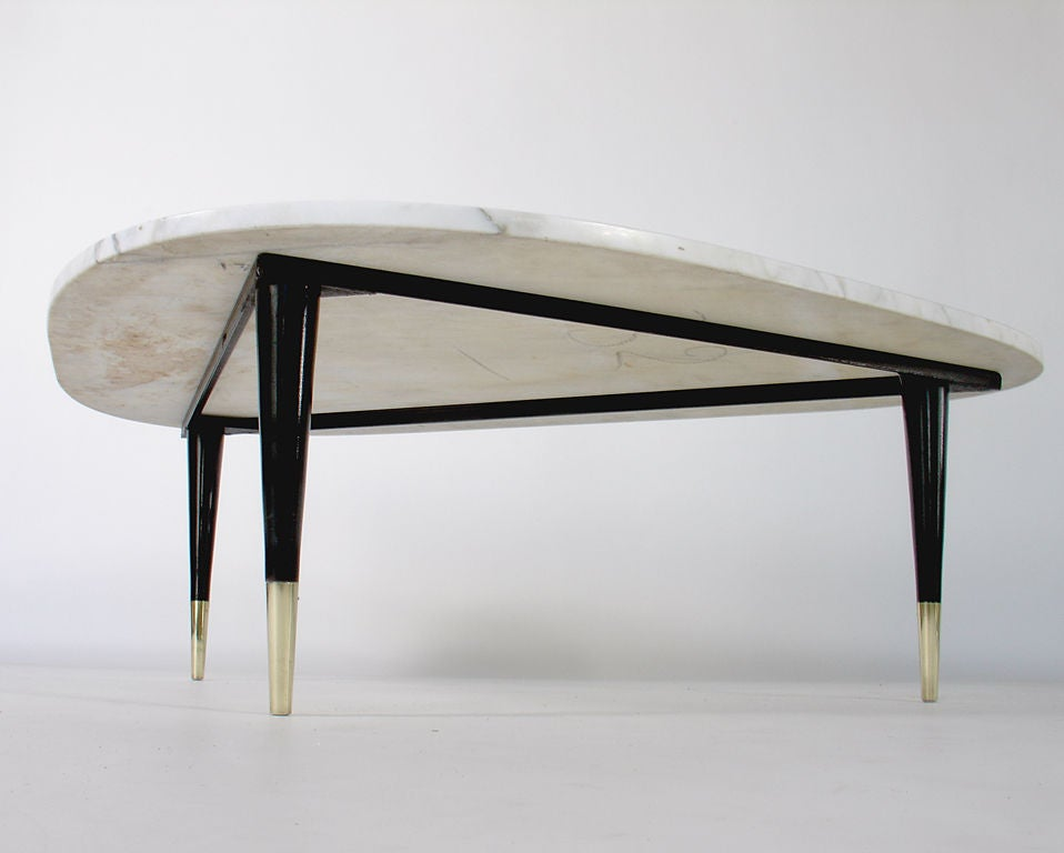 Modernist White Marble Coffee Table At 1stdibs