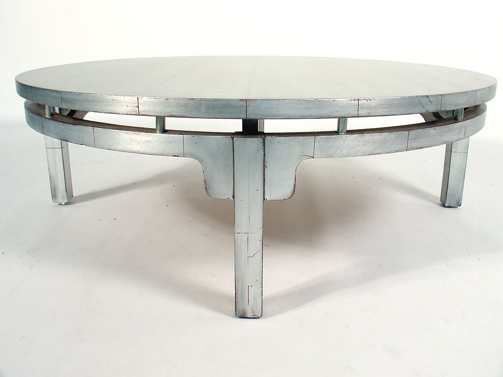 Silver Leaf Asian Form Coffee Table At 1stdibs