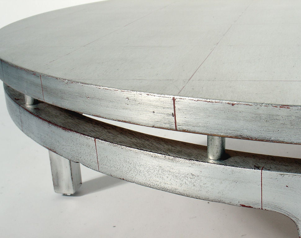 silver leaf asian form coffee table for sale at 1stdibs