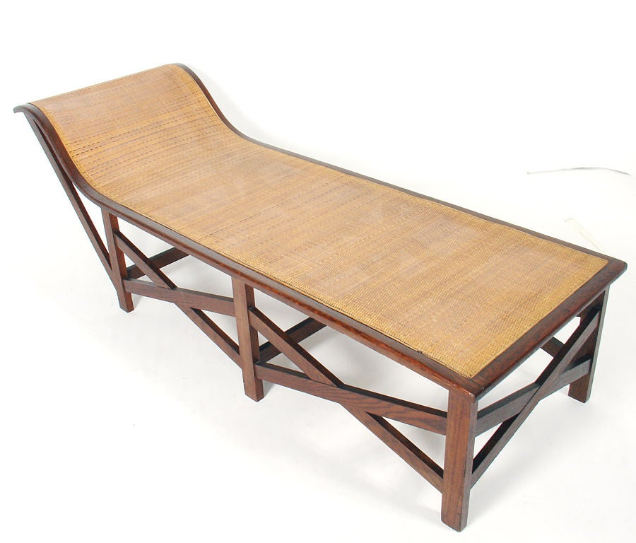 Sculptural caned chaise lounge at 1stdibs for Art nouveau chaise lounge