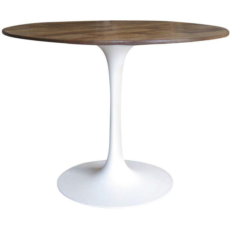 dining table with original saarinen table base at 1stdibs. Black Bedroom Furniture Sets. Home Design Ideas