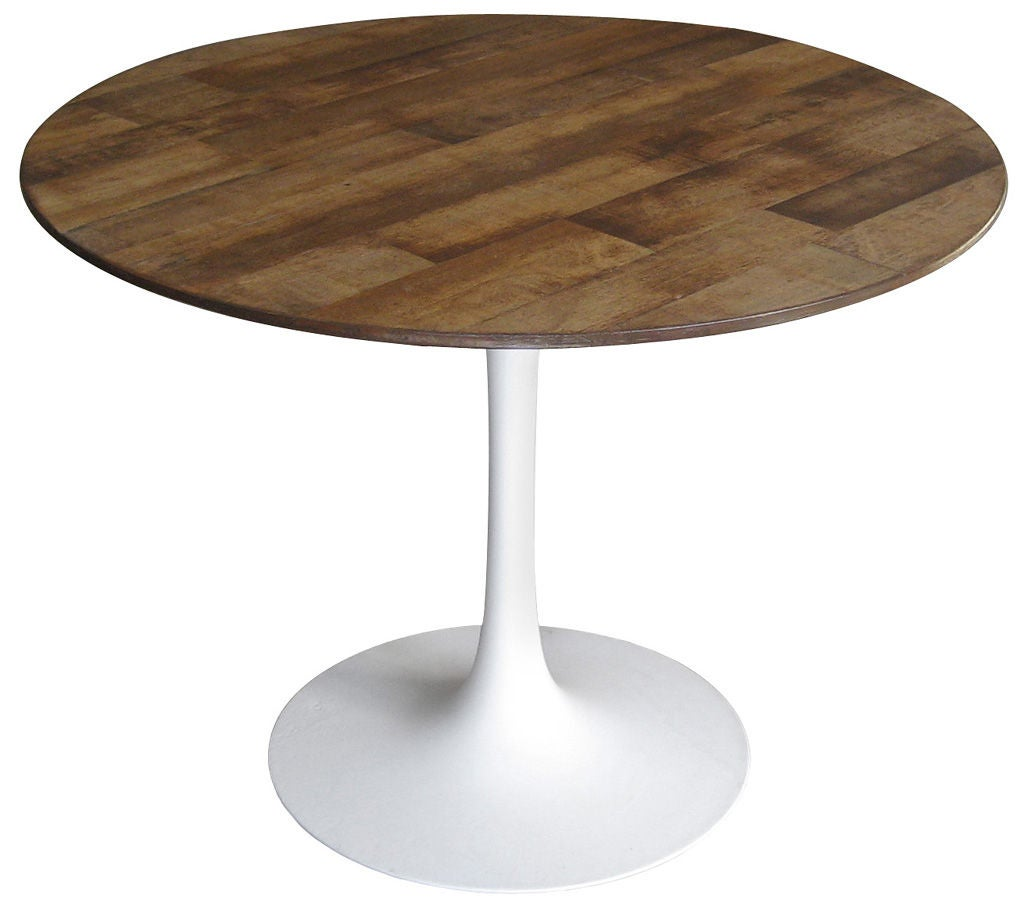 Dining table with original saarinen table base at 1stdibs