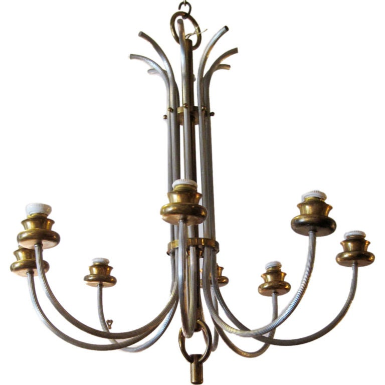 Elegant French 8-Arm Chandelier For Sale
