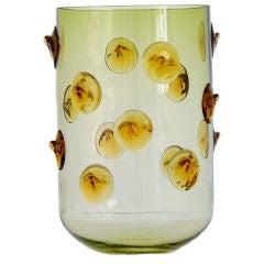 """Handblown """"Studs"""" Glass Vase by Eric Schmitt"""