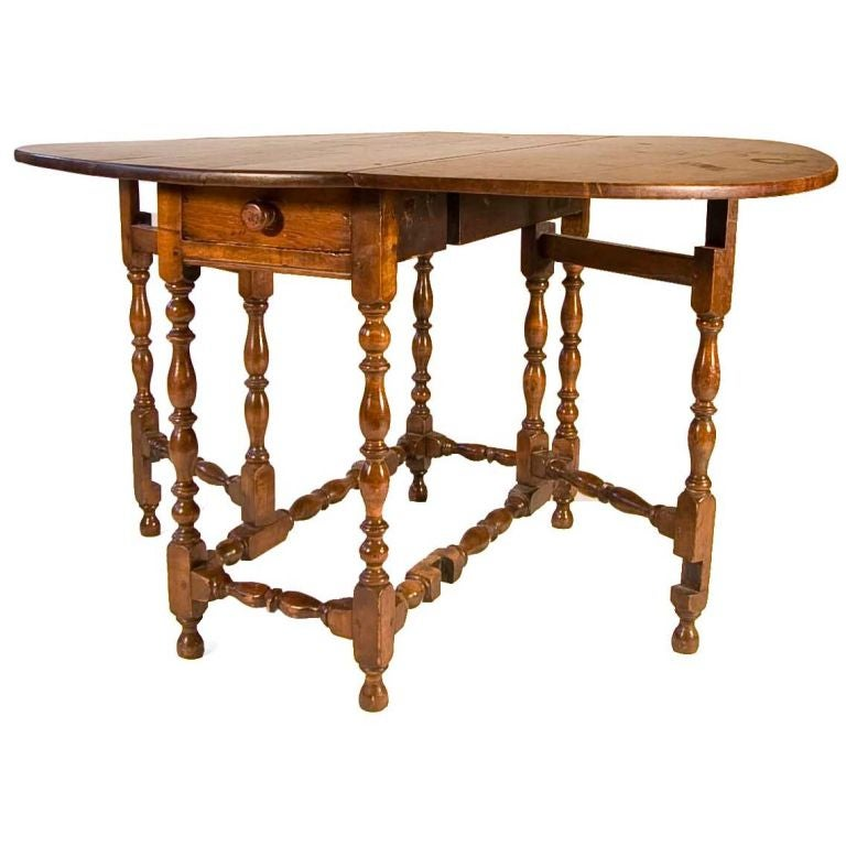 Maple william and mary gateleg table for sale at 1stdibs - Gateleg table and chairs ...