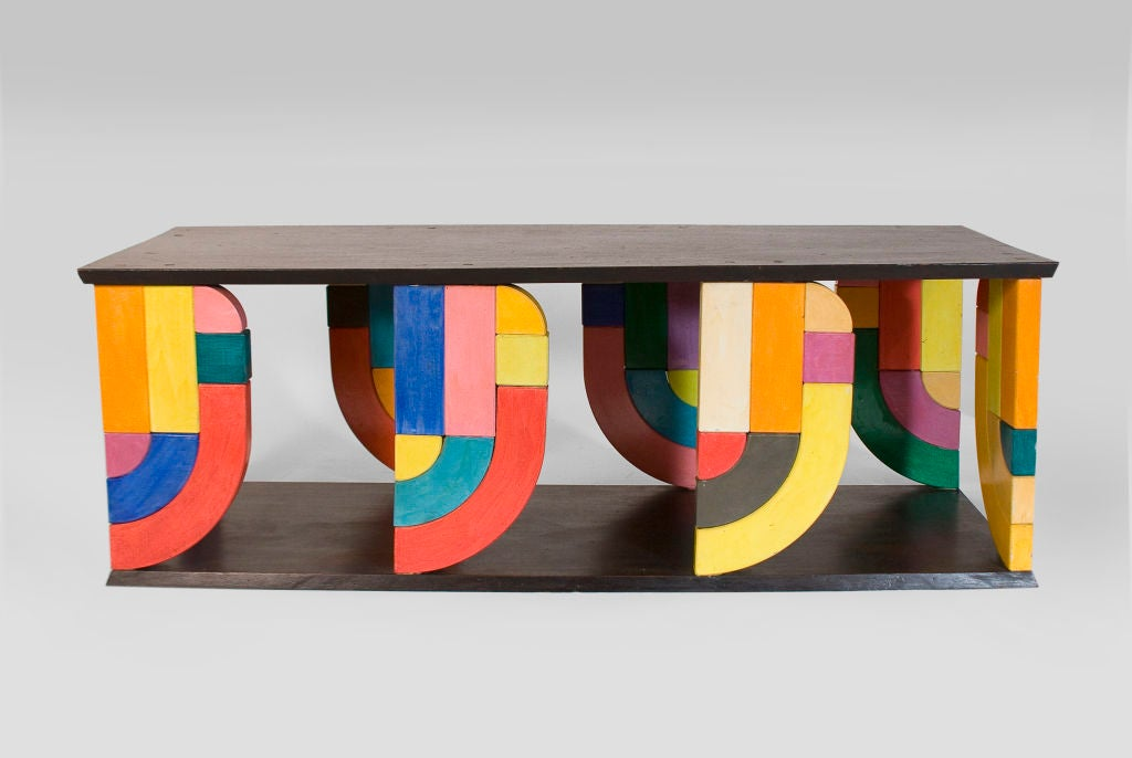Mahogany Coffee Table in Pop-Art Form For Sale