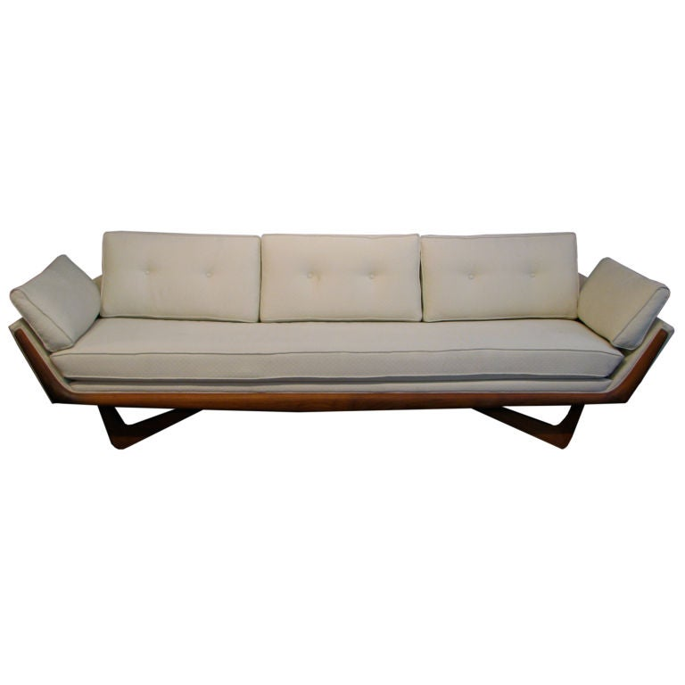 Adrian pearsall bench seat sofa at 1stdibs Bench sofa