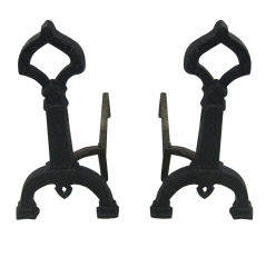 Pair of Art Deco Andirons