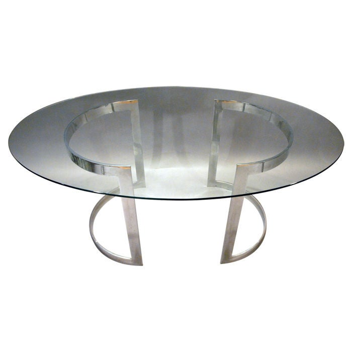 Sleek oval rectangle or square dining table desk at - Square to rectangle dining table ...