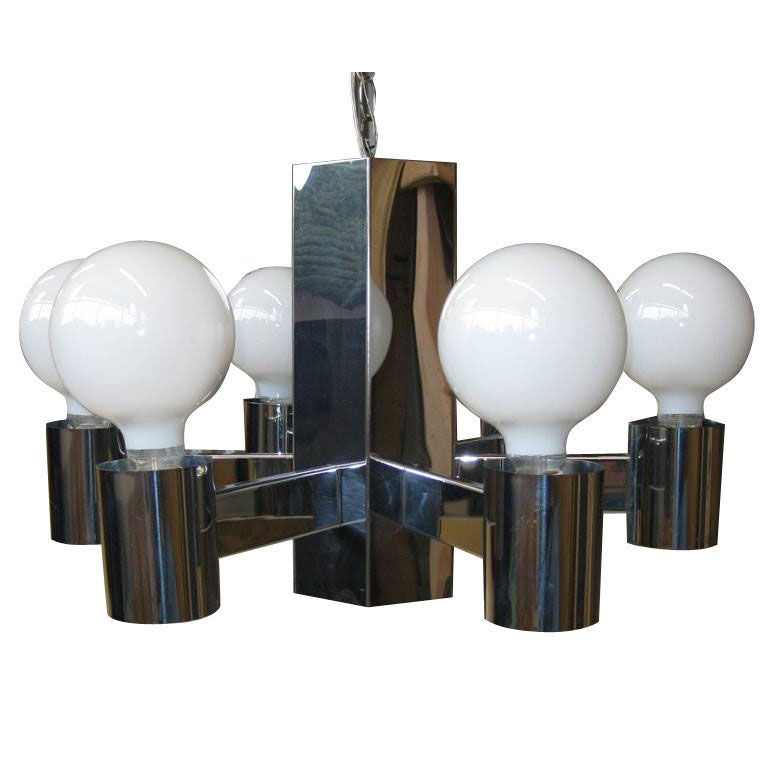 Six arm seven lamp mid century modern chandelier for sale at 1stdibs - Spectacular modern pendant lighting fixtures as center of attention ...
