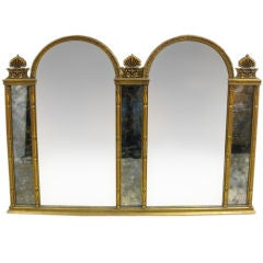 Dual Panel Hollywood Regency Mirror