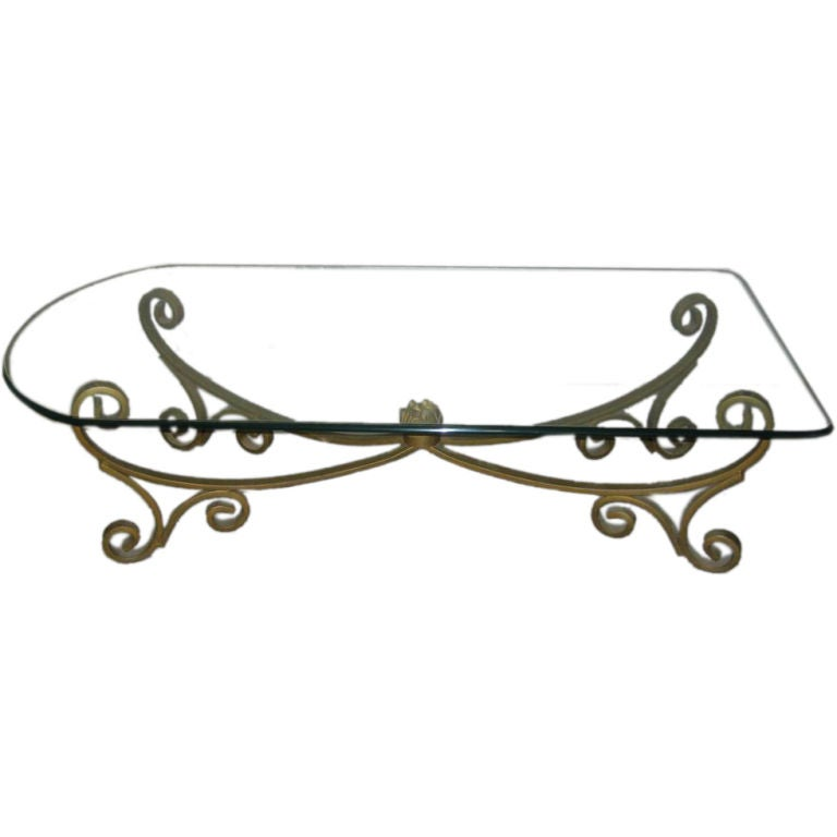 Rectangular Oval Hollywood Cocktail Table