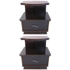 Pair of Exceptional Art Deco Cantilevered Bedside/End Table