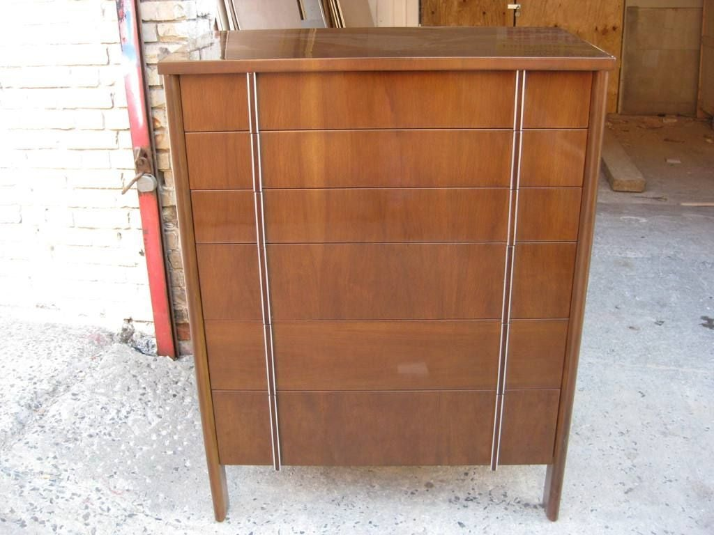 Tall John Widdicomb Chest of Six Drawers High Boy For Sale 2