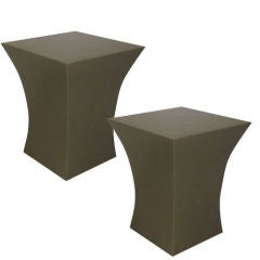 Pairs of Geometric Resin End/Side or Cocktail Tables