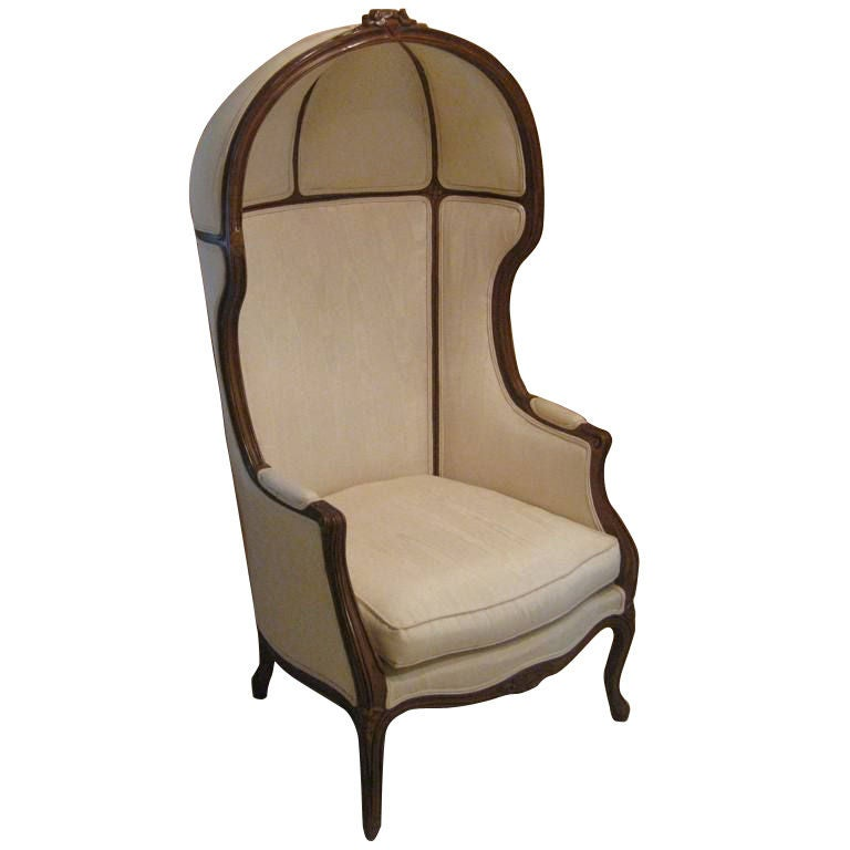 French Art Deco Hooded Chair At 1stdibs